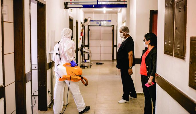 Cabrália em combate ao coronavírus realiza desinfecção de unidades de saúde