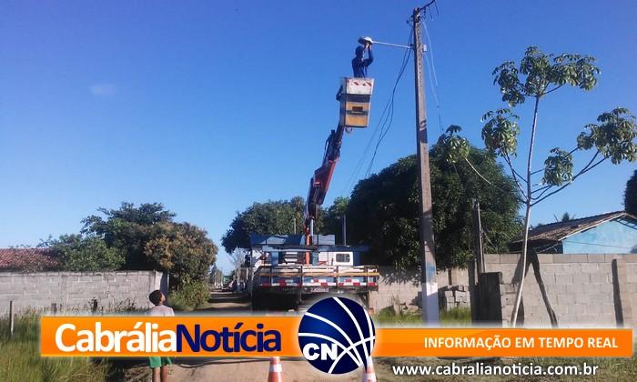 Prefeitura de Cabrália faz reparos na iluminação do Guaiu