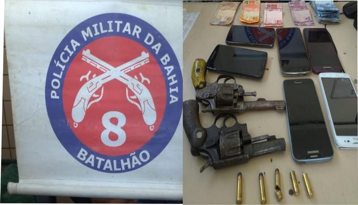 PM prende dois criminosos envolvidos no roubo ocorrido em estacionamento na balsa de Santa Cruz Cabrália.
