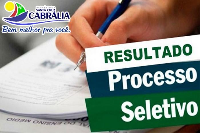 Resultado final dos classificado no Processo Seletivo em Santa Cruz Cabrália