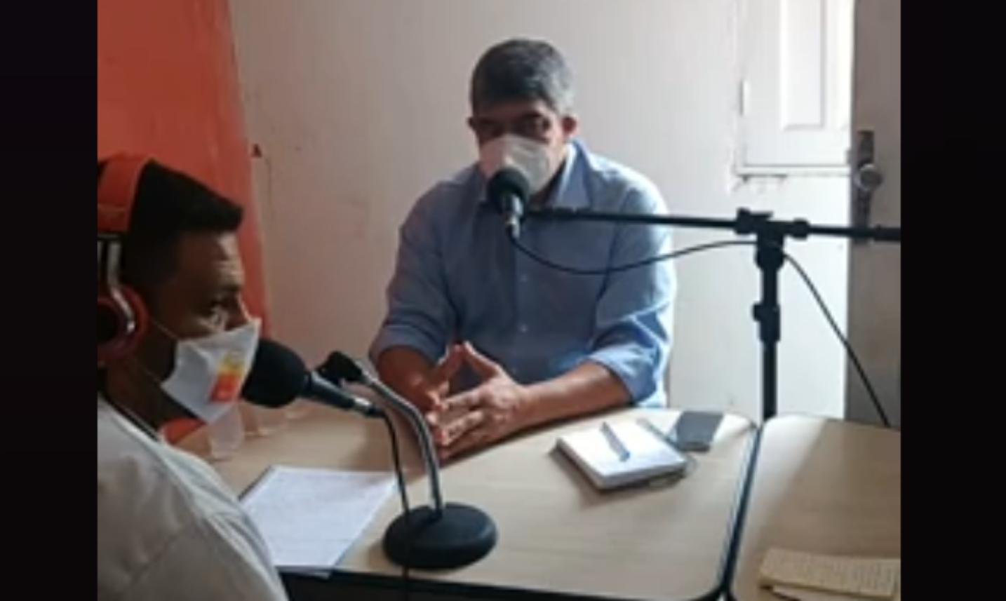 NESTA QUARTA-FEIRA DIA 12 DE AGOSTO PREFEITO AGNELO CONCEDEU ENTREVISTA NA RÁDIO 109.9FM