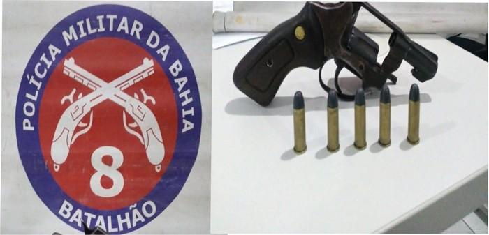 Policia Militar prende homem armado em Santa Cruz Cabralia.
