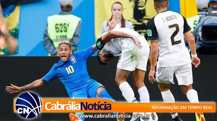 Copa do Mundo: com gols de Neymar e Phillipe Coutinho, Brasil vence a Costa Rica