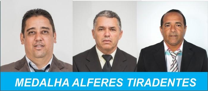 VEREADORES DE CABRÁLIA RECEBEM MEDALHA ALFERES TIRADENTES