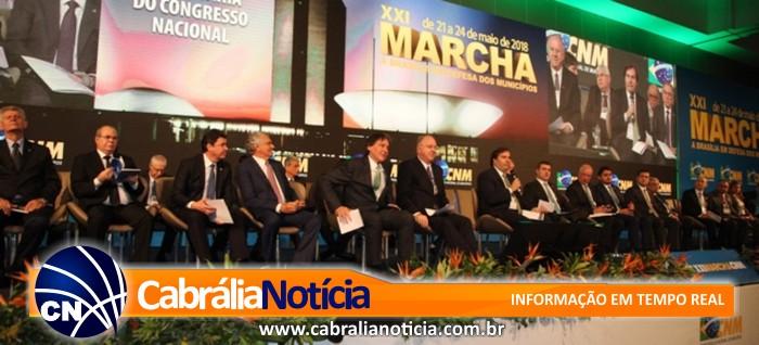 Dos 417 prefeitos baianos, 376 foram  a Marcha em Brasília