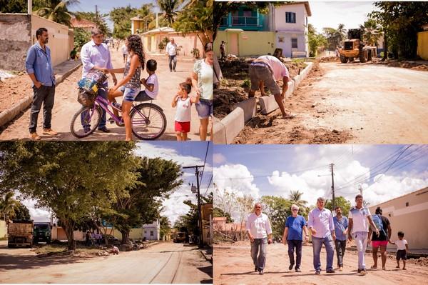Prefeitura de Cabrália retoma obras com 2.800 m² de pavimentação no Mirante