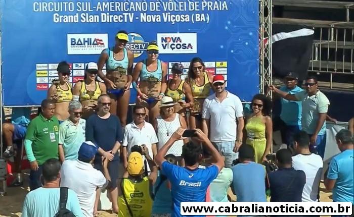 Brasileiras conquistam o ouro na 1ª Etapa do Circuito Sul-Americano de Vôlei de Praia
