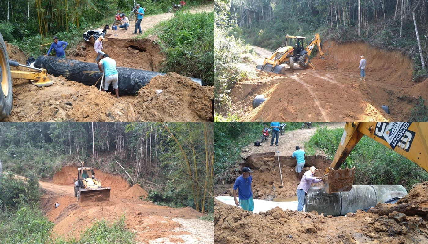 Estrada do Rio do Sul é recuperada e recebe drenagem para beneficiar moradores da Zona Rural