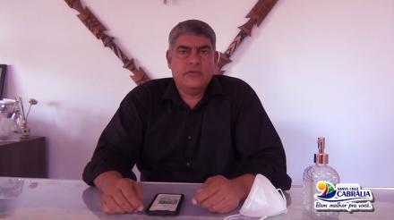 Prefeito Agnelo e Secretaria de Saúde falam da Covid no município de Cabrália