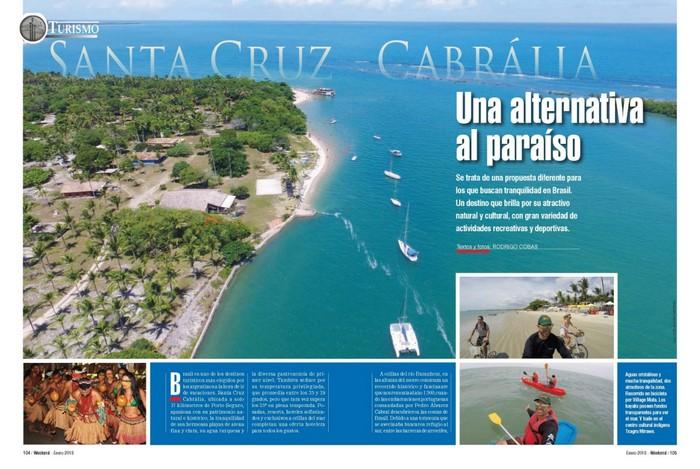 Revista Argentina divulga o paraíso de Santa Cruz Cabrália