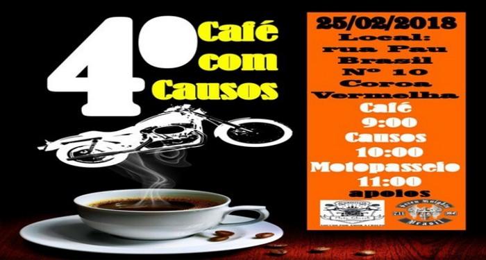 Motopasseio, Evangelho e alegria: Domingo, em Coroa Vermelha, o 4º Café com Causos