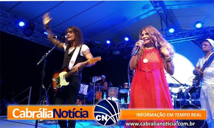 Show de Elba Ramalho encanta moradores e turistas no Porto Seguro Eco Bahia Hotel