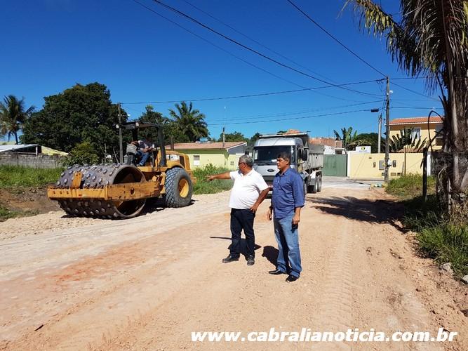 Prefeitura de Cabrália faz melhorias nas ruas do bairro Mirante