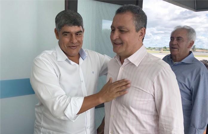 Prefeito Agnelo, secretários e vereadores prestigiaram prefeito Robério Oliveira, durante visita do governador Rui Costa