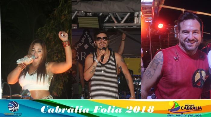Jacqueline,Tomate e Olodum agita a 3ª noite do Cabrália Folia 2018.