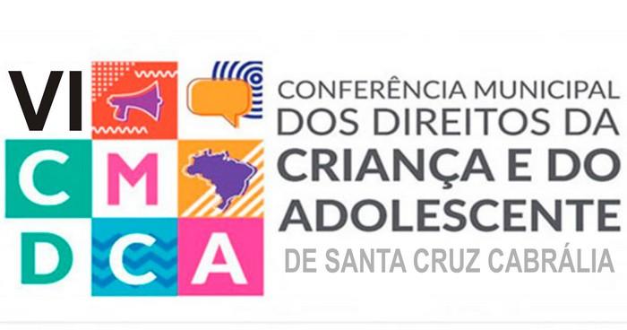 VI Conferência Municipal dos Direitos da Criança e do Adolescente em Santa Cruz Cabrália.