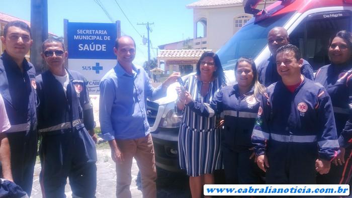 Cabrália ganha Nova ambulância do SAMU