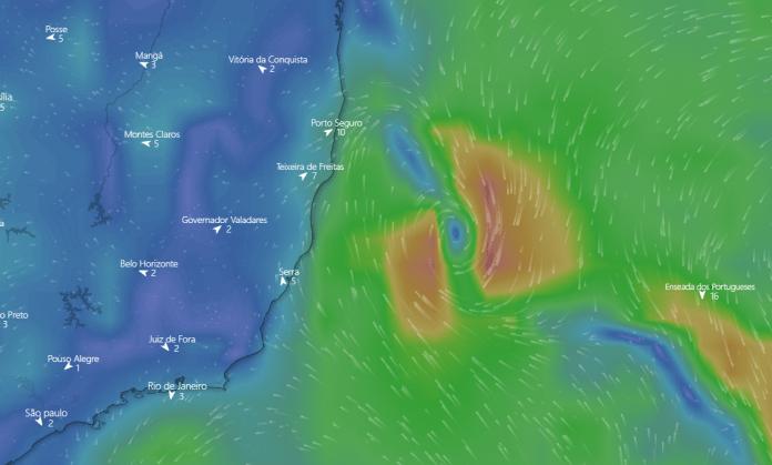 Marinha alerta para possível formação de ciclone ao leste da Bahia e do Espírito Santo