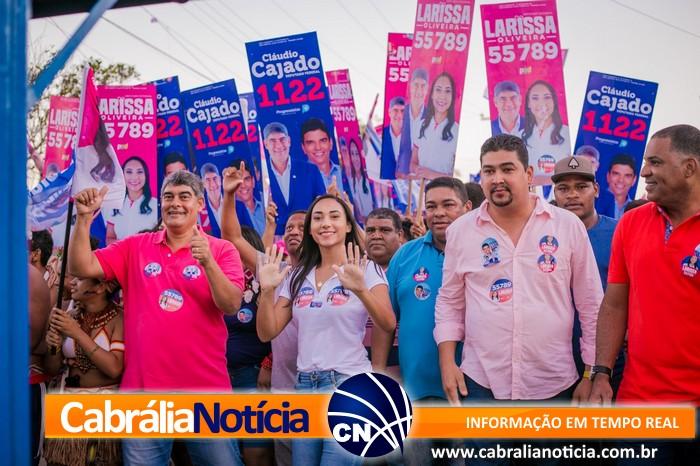 As imagens não me deixam mentir… Faltou chão na passeata de Larissa Oliveira em Ponto Central