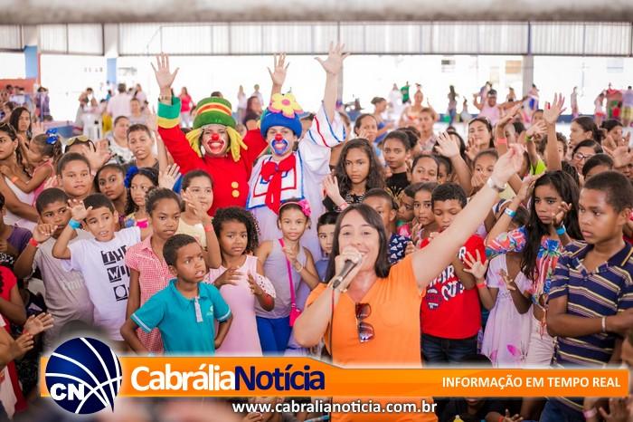 Muitas atividades para comemorar o dia da criança em Cabrália