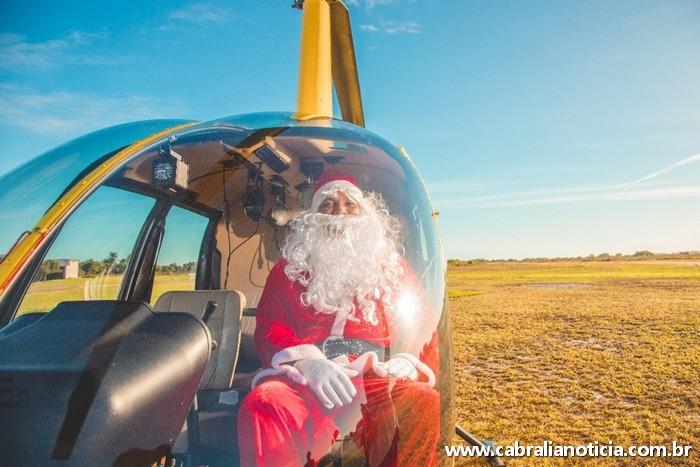 Natal no La Torre Resort teve até Papai Noel chegando de Helicóptero