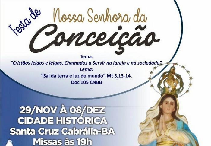 Festa da Padroeira de Cabrália começa dia 29 de novembro
