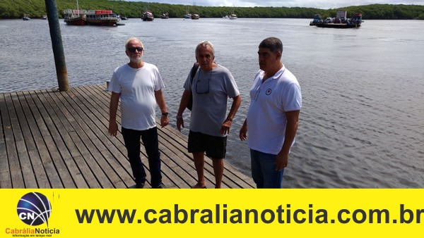 Prefeito Agnelo, Gordilho e Naldo visitam obras no Píer.