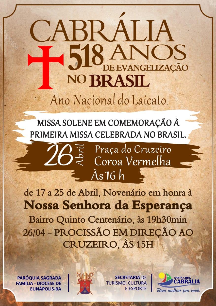Cabrália  518 Anos Da Primeira Missa No Brasil