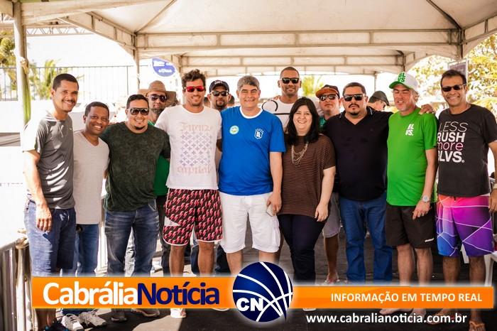 Dia lindo de sol no Terceiro dia de Panamericano de Beach Tennis em Cabrália!