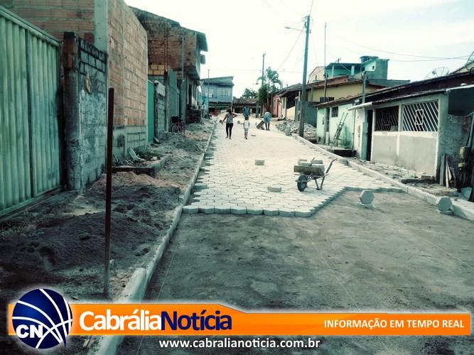 Pavimentação da Travessa Rondônia está em ritmo acelerado