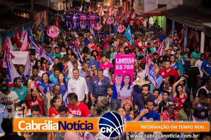 Cabrália foi a 104ª cidade visitada por Rui Correria rumo a reeleição