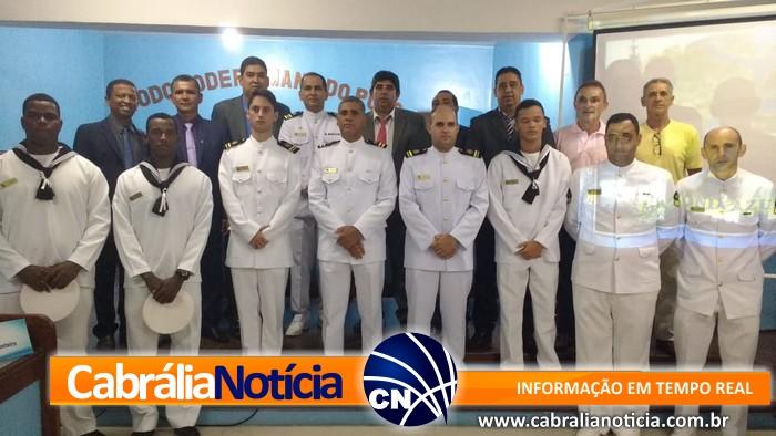 Câmara Municipal de Santa Cruz Cabrália prou Sessão Solene alusiva ao Dia da Amazônia Azul