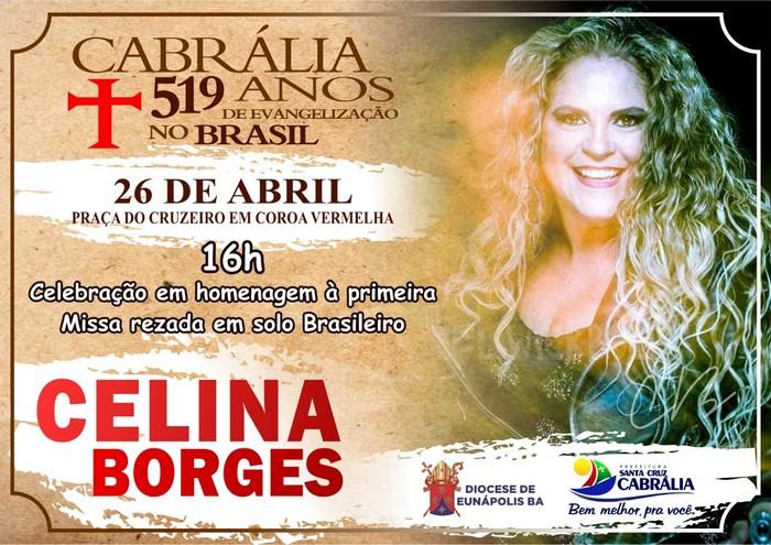 Resultado de imagem para Celina Borges canta na celebração dos 519 anos de evangelização no Brasil em Coroa Vermelha