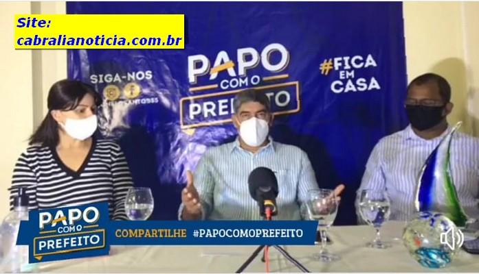 A Educação em Cabrália foi destaque na 2ª Live no Papo com o Prefeito.
