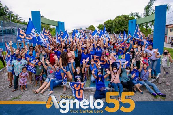 Caminhadas da ala feminina vão às ruas em apoio a reeleição de Agnelo Santos