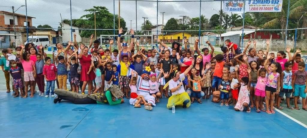 DIA DAS CRIANÇAS EM CABRÁLIA: Hoje a festa foi para a criançada do Tânia!