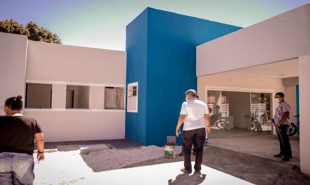 O novo posto de saúde, do Guaiú, está em fase de término.