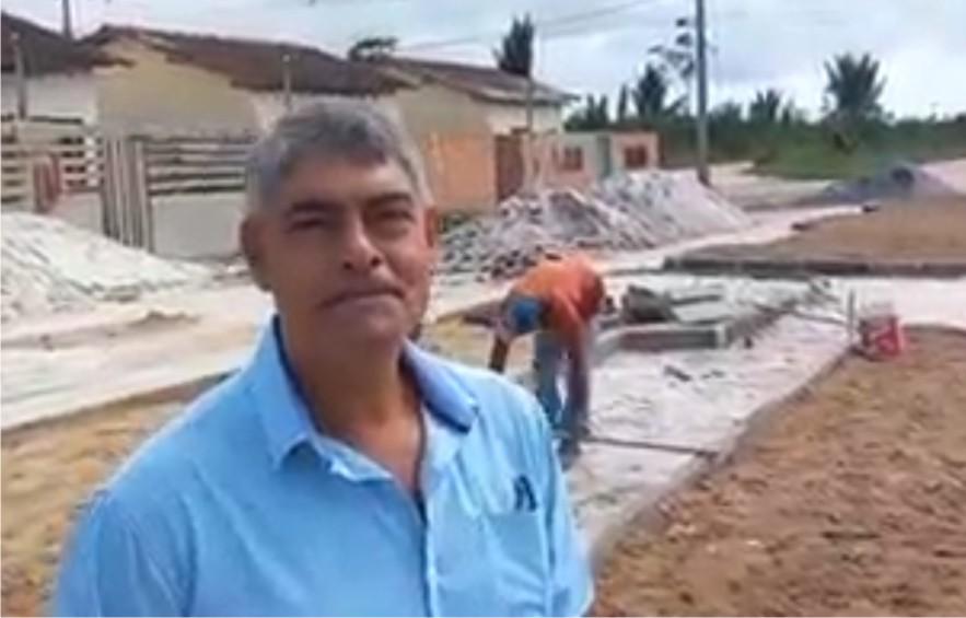 Agnelo vistoria obras no bairro Geraldo nesta 2a feira 26/10/2021