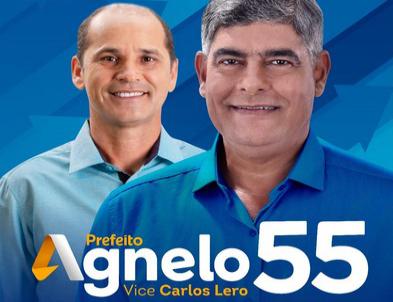"""Eleições 2020: Candidato a reeleição """"Agnelo Santos """" apresenta banner de Campanha"""