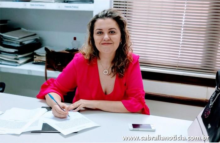 Doutora Tarcísia de Oliveira Fonseca Elias, é a nova juíza da Comarca de Cabrália