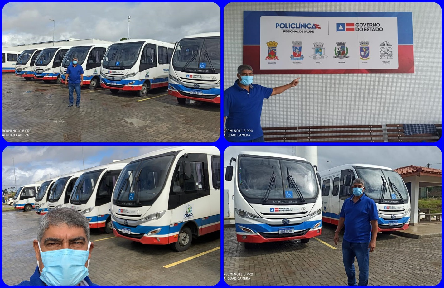 Micro-ônibus gratuitos vão garantir transporte entre municípios que integram o Consorcio  de Saúde da Costa do Descobrimento
