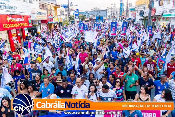 Caminhada da candidata  Larissa Oliveira em Eunápolis, parecia um tsunami
