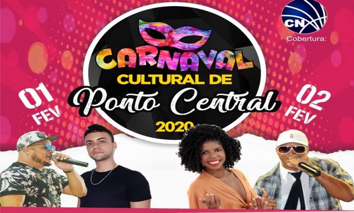 Veja a programação que já está definida do Carnaval Cultural em Ponto Central