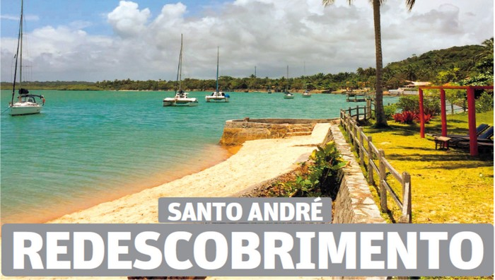 A cidade de Santa Cruz Cabrália é capa do caderno de turismo do Jornal O Tempo de Belo Horizonte.