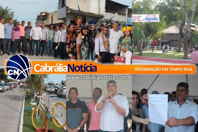 Prefeito Agnelo Santos entrega obras de urbanização no bairro Nova Cabrália