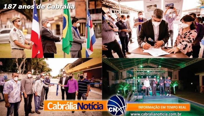 Cabrália comemora 187 anos atendendo a medidas de segurança contra o COVID-19.