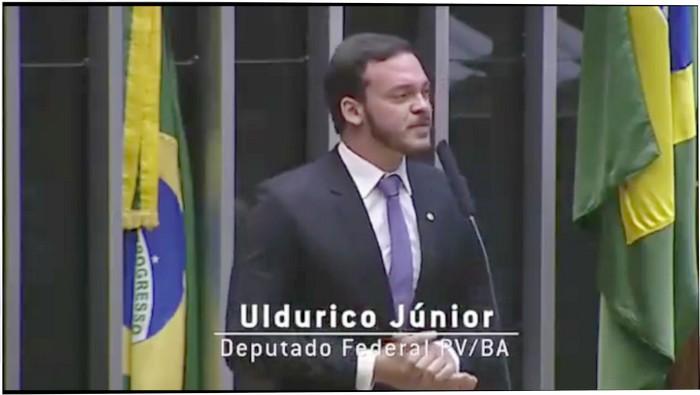 DEP. ULDURICO JÚNIOR FALA EM BRASILIA SOBRE A DEMOLIÇÃO DO MONUMENTO EM CABRÁLIA