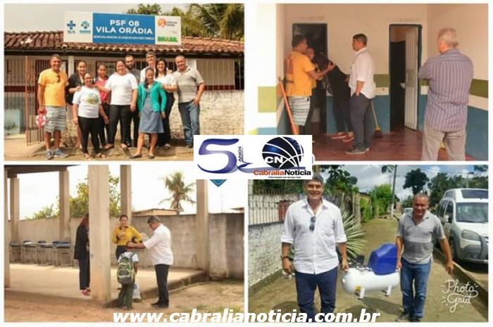 Prefeito Agnelo Santos entrega equipamento e autoriza serviços na Vila Orádia