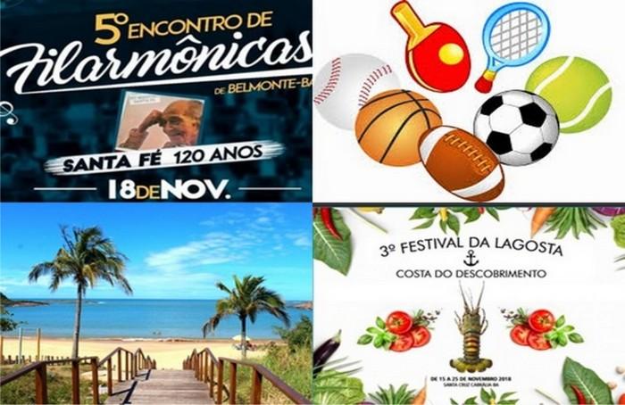Fim de semana tem eventos esportivos, cultural, gastronomia e lazer na Costa do Descobrimento