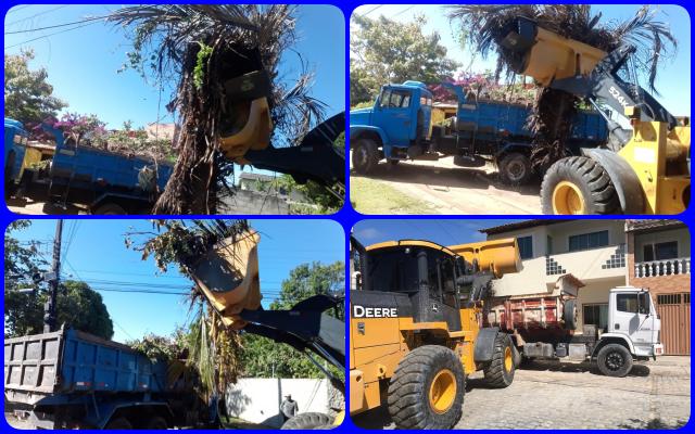 Prefeitura trabalhando: limpeza no Bairro Mirante da Coroa